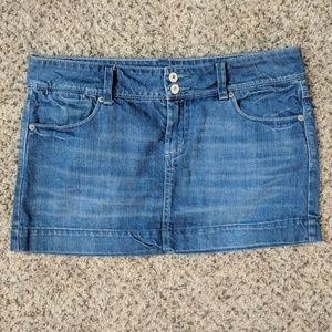 American Eagle Blue Jean Classic Mini Skirt